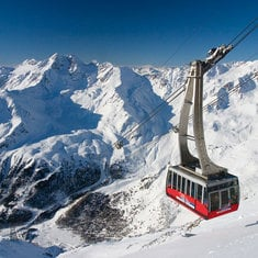 The cable car in Senales
